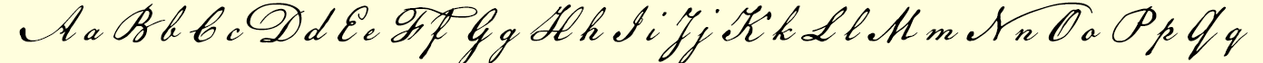 American Scribe font