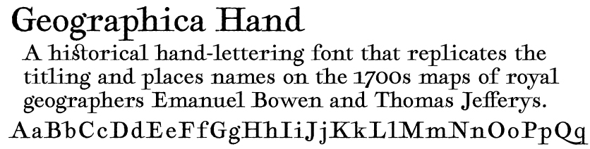 Geographica Hand font